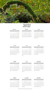 Calendriers  annuels sur le Thème de la Nature